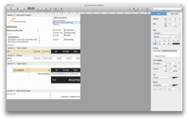 BillSonar Invoice software Mac OS X Design Editor