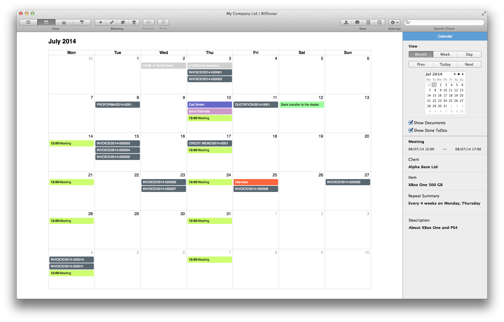 invoicing for mac